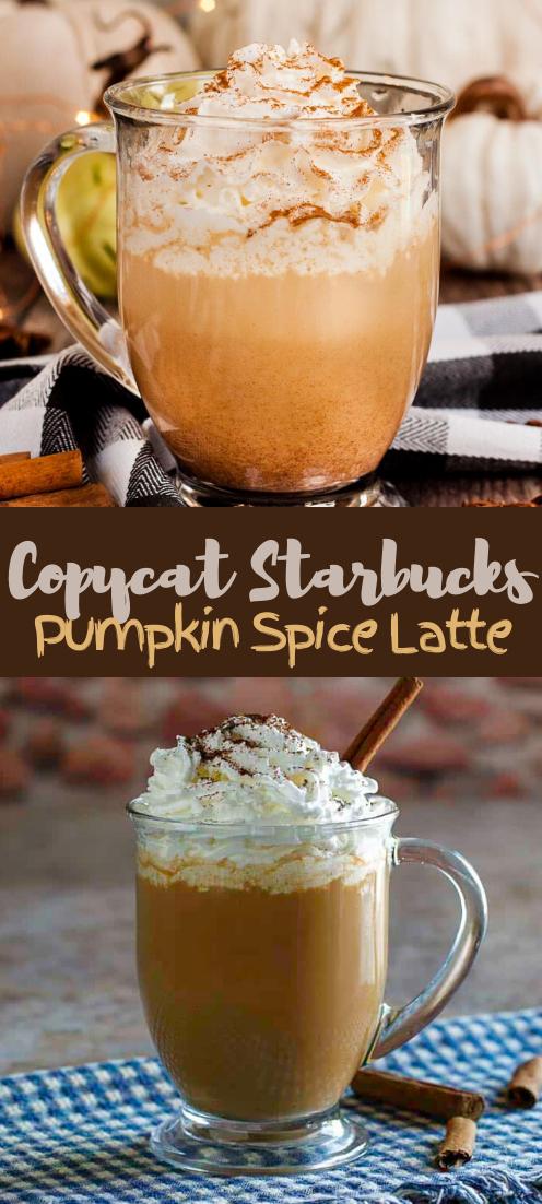 Copycat Starbucks Pumpkin Spice Latte #healthydrink #drinkrecipe #smoothiehealthy #cocktail