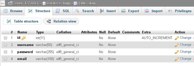 PlajariKode - Login form dengan autentikasi username dan password menggunakan php dan mysql