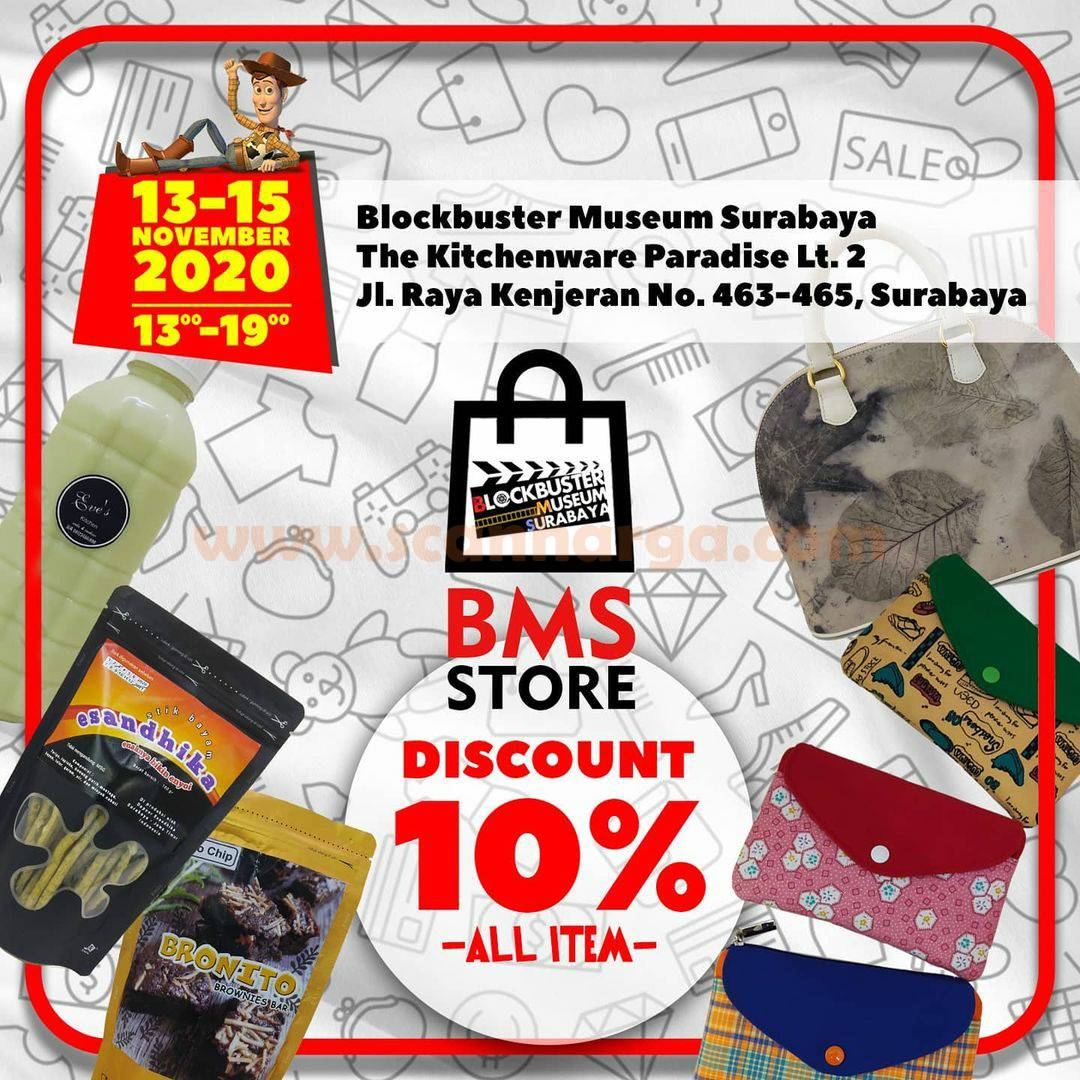 BMS STORE Discount 10% All Item