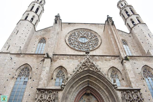 Basílica Santa Maria del Mar en el Born de Barcelona