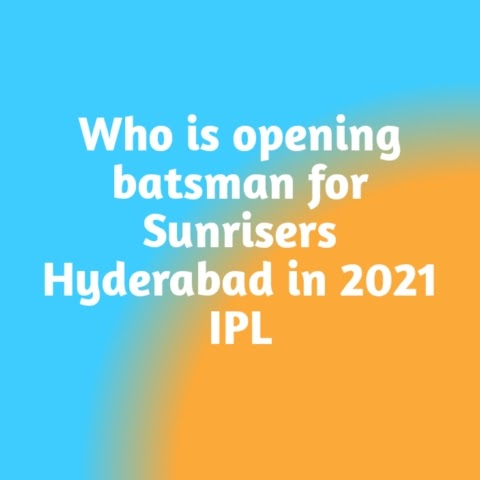Who is opening batsman for Sunrisers Hyderabad in 2021 IPL