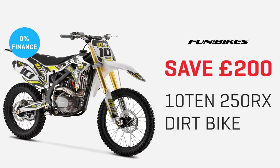 Save £200 10TEN 250RX Dirt Bike
