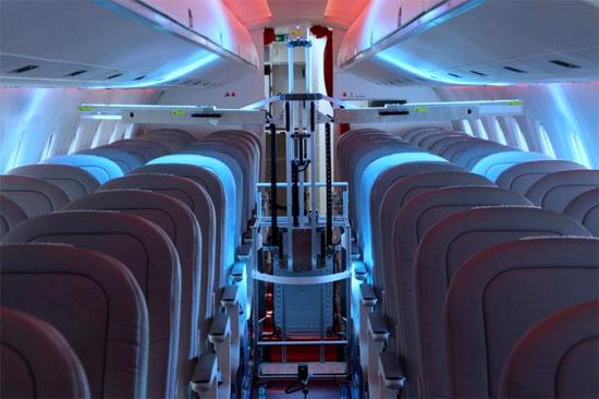 Robôs Suíços com Luz Ultravioleta exterminam o CORONAVÍRUS em aviões - Img
