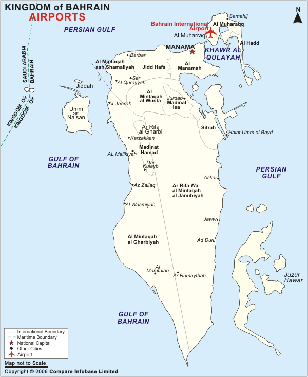 Bahrein | Mapas Geográficos do Bahrein