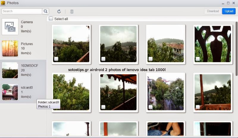 Airdroid photo galleries