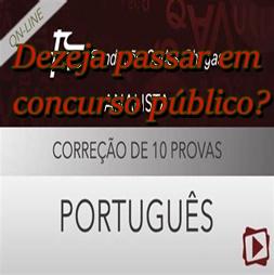 Português para Concursos. Nesse curso vc vai ter oportunidade de passar em concurso.