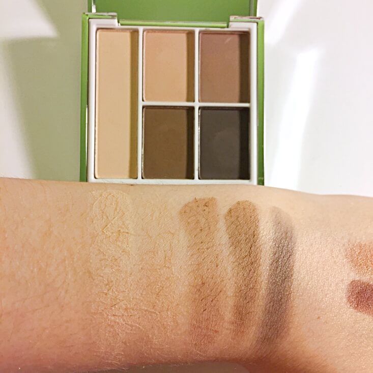 e.l.f. Beautifully Bare Glowing Eyes Palette Matte Essentials swatch
