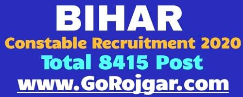 Bihar Police CSBC Constable Vacancy 2020 Online Application Form  Bihar Police Constable Recruitment 2020