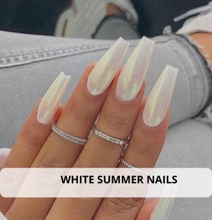 White Summer Nails