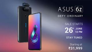 ASUS 6Z sale starts on Flipkart
