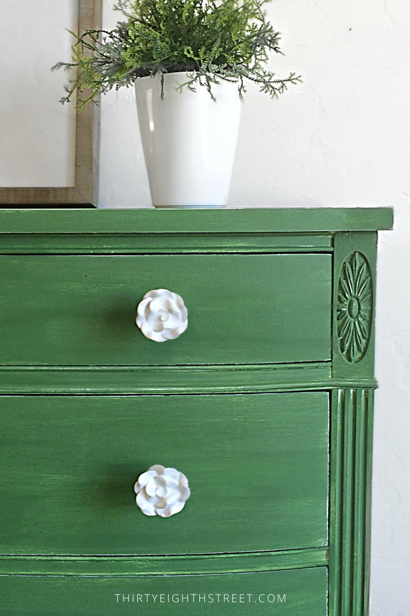 painted dresser, dresser ideas, green dresser, before and after dresser, milk paint