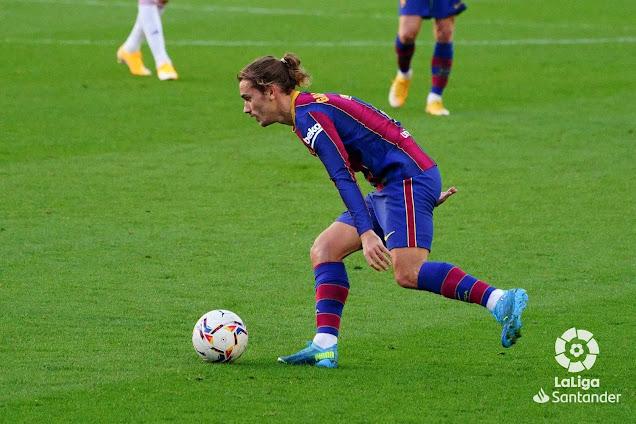 Barcelona forward Greizmann against Osasuna