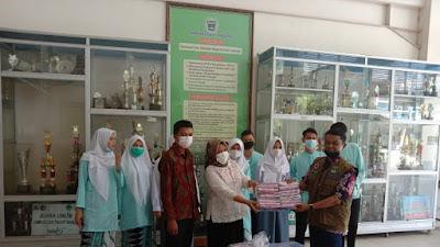 Gerakan Sejuta Masker BPBD Sumbar Sentuh Pelajar Kota Padang