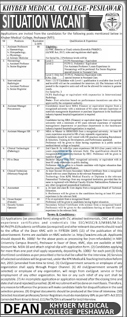 khyber-medical-college-kmc-jobs-2021-peshawar-advertisement