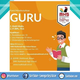Lowongan Kerja Guru di SMK Multisudi High School