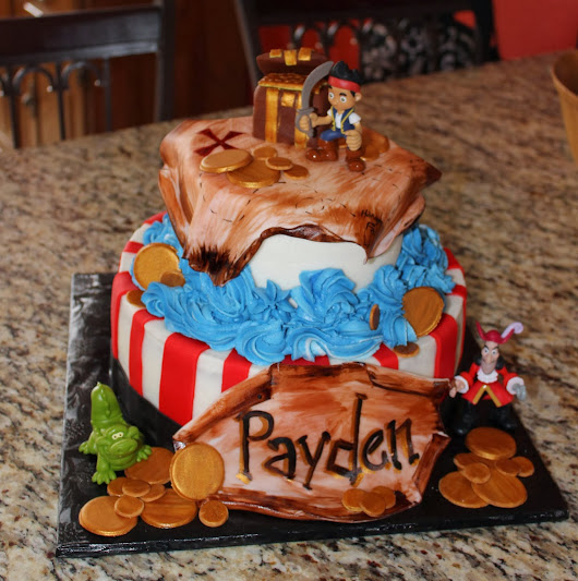 Jake and the Neverland Pirate Birthday cake for Payden