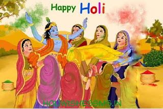 holi drawing image