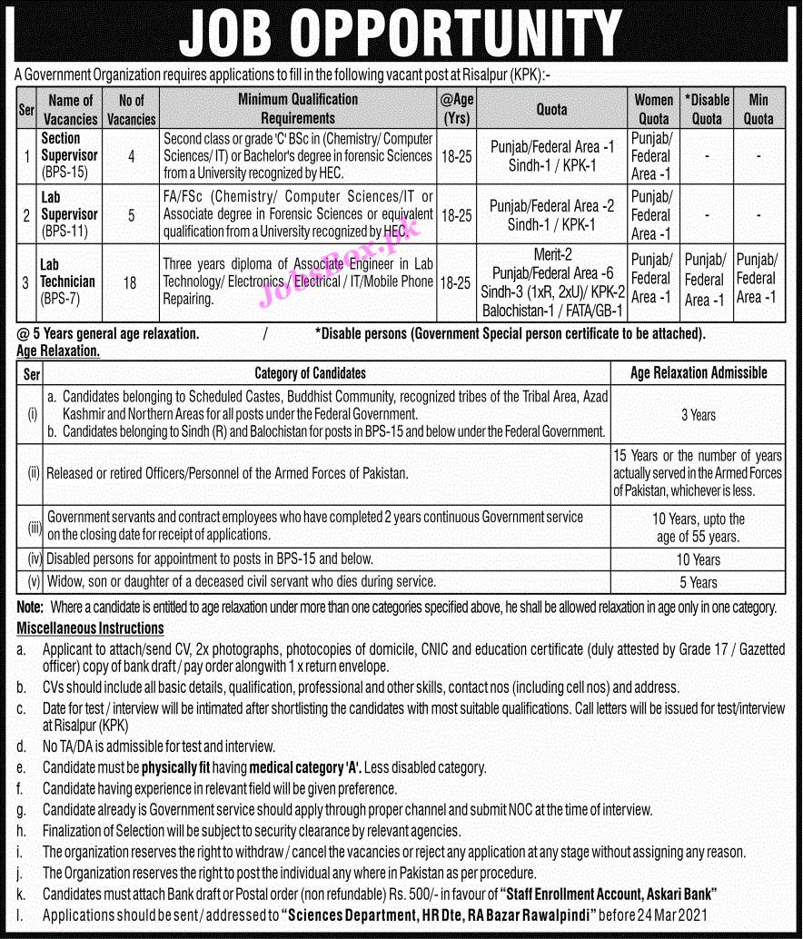 Latest Pakistan Government Organization Jobs Opportunities 2021