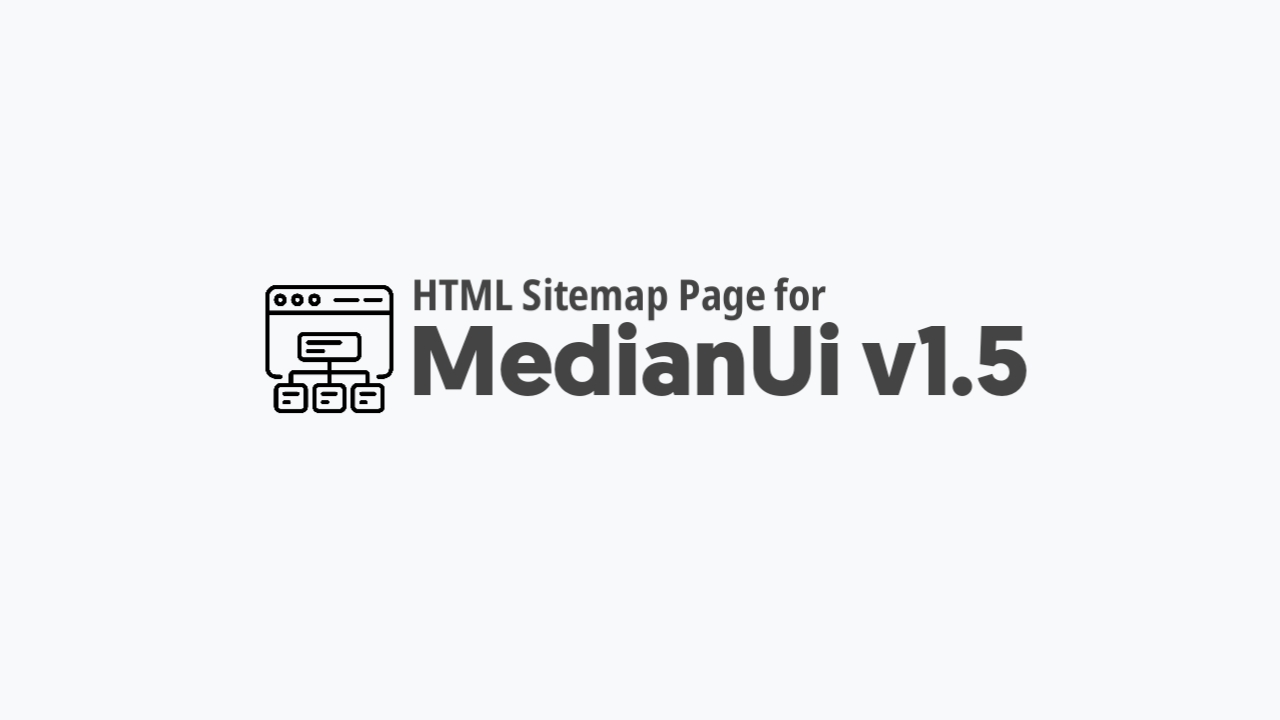 How to Add HTML Sitemap Page in Median Ui v1.5