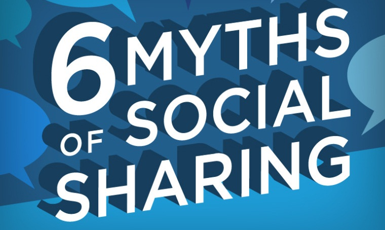 #Infographic: Six Surprising Myths of #SocialMedia Sharing - #marketing