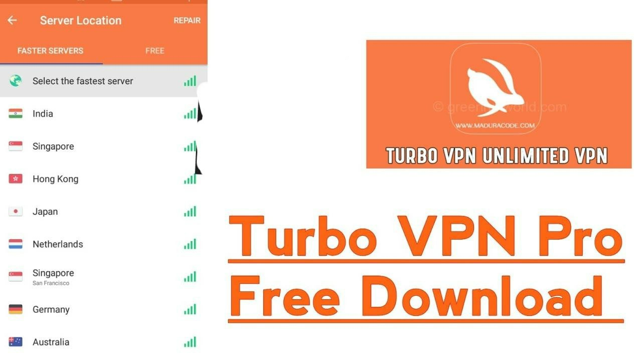 Turbo VPN – Unlimited Free VPN Latest Version 2 8 14 [VIP/AdFree