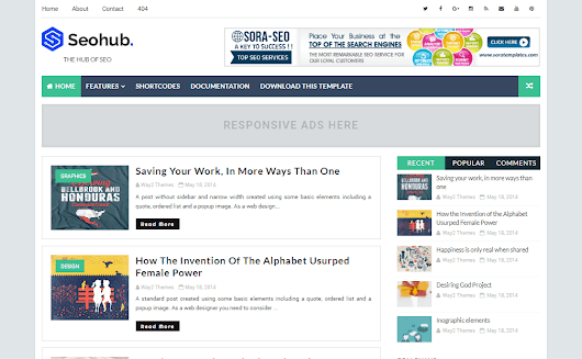 Gallery Blogger Templates: SeoHub Fast Loading Blogger Template