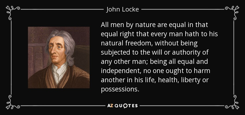 the influence of john lockes early life to his view on political liberty The literature regarding john locke's political philosophy and its relation to his  religious background is so plentiful that one hesitates to contribute another  analysis  this camp suggests that his thought is deeply rooted in the religious  views  in his study of the influence of locke's political thought on the american .