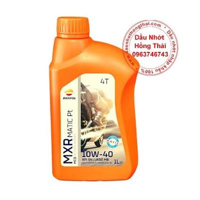 Dầu nhớt xe tay ga Repsol MXR Matic 10W40 SL/MB