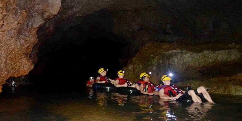 Goa Lanang River Tubing Pangandaran Jawa Barat Santirah River Tubing