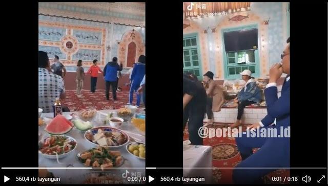 ASTAGHFIRULLAH... Viral Video Tik Tok... Orang-orang China Jadikan Masjid Uighur Tempat Pesta Pora