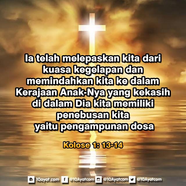 Kolose 1:13-14