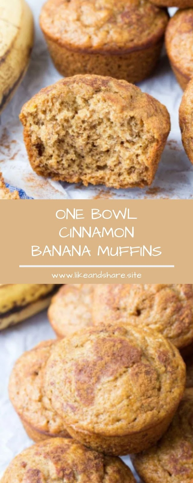 ONE BOWL CINNAMON BANANA MUFFINS