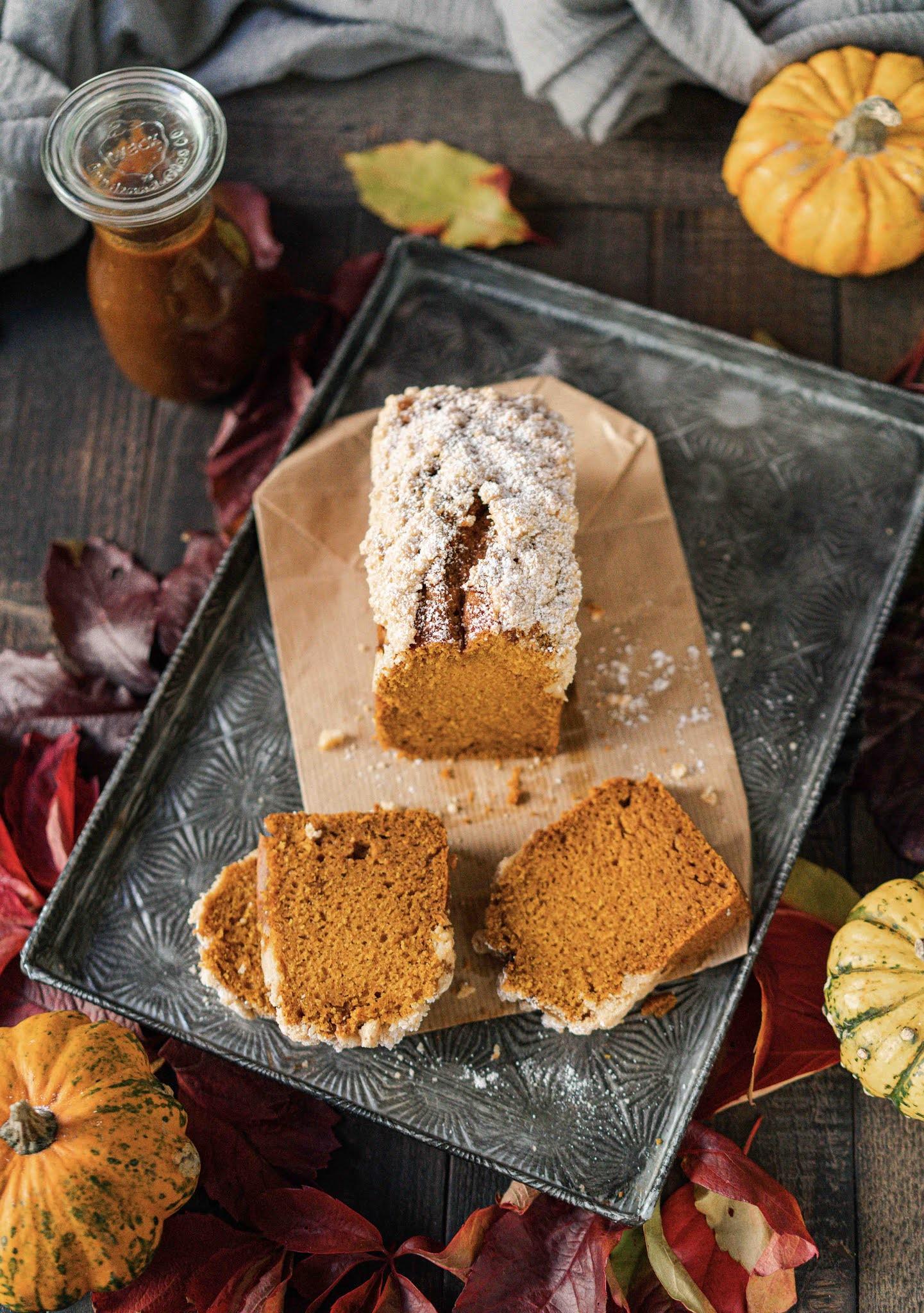 gouter d'automne , citrouille , pumpkin bread