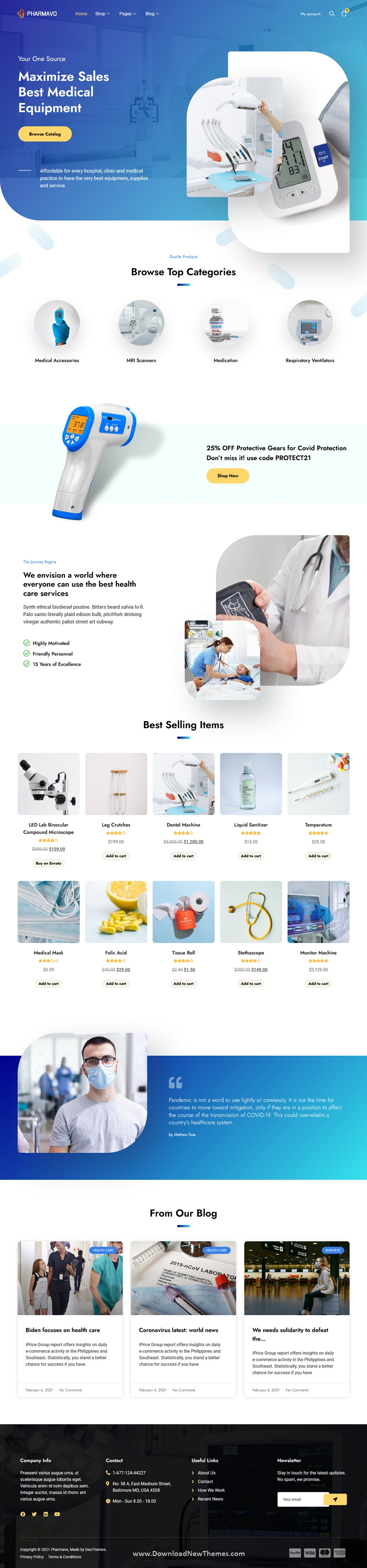 Medical Supplies eCommerce Elementor Template Kit