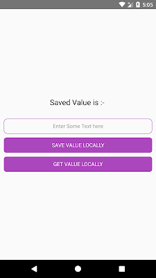 React Native Get Save Value Locally using AsyncStorage in App Memory Example