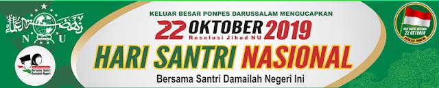Kumpulan Desain Spanduk, Baliho, Banner Hari Santri Nasional 2019