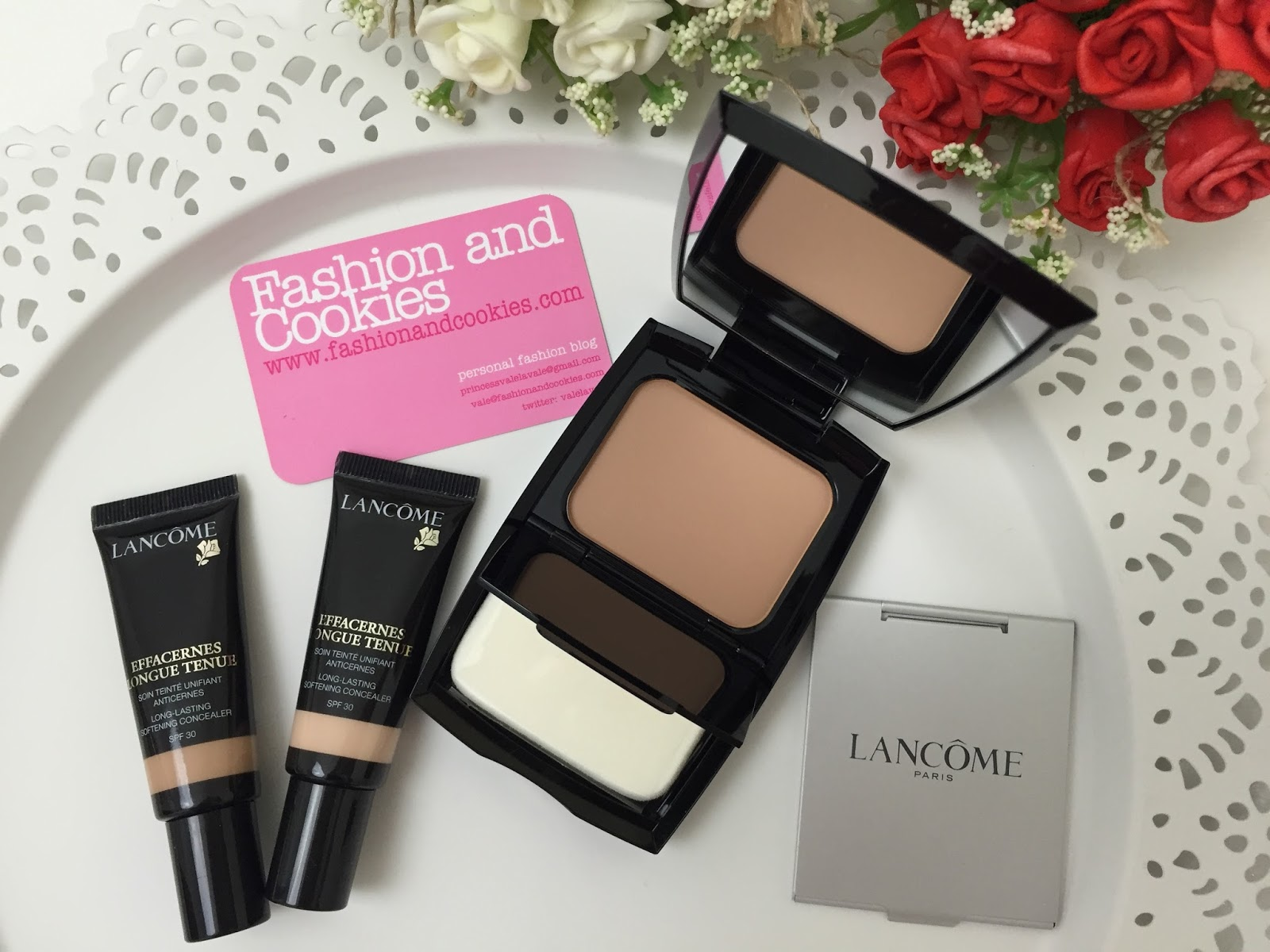 Lancôme Effacernes Longue Tenue concealer and the brand new Teint Idole Ultra Compact foundation review on Fashion and Cookies beauty blog, beauty blogger