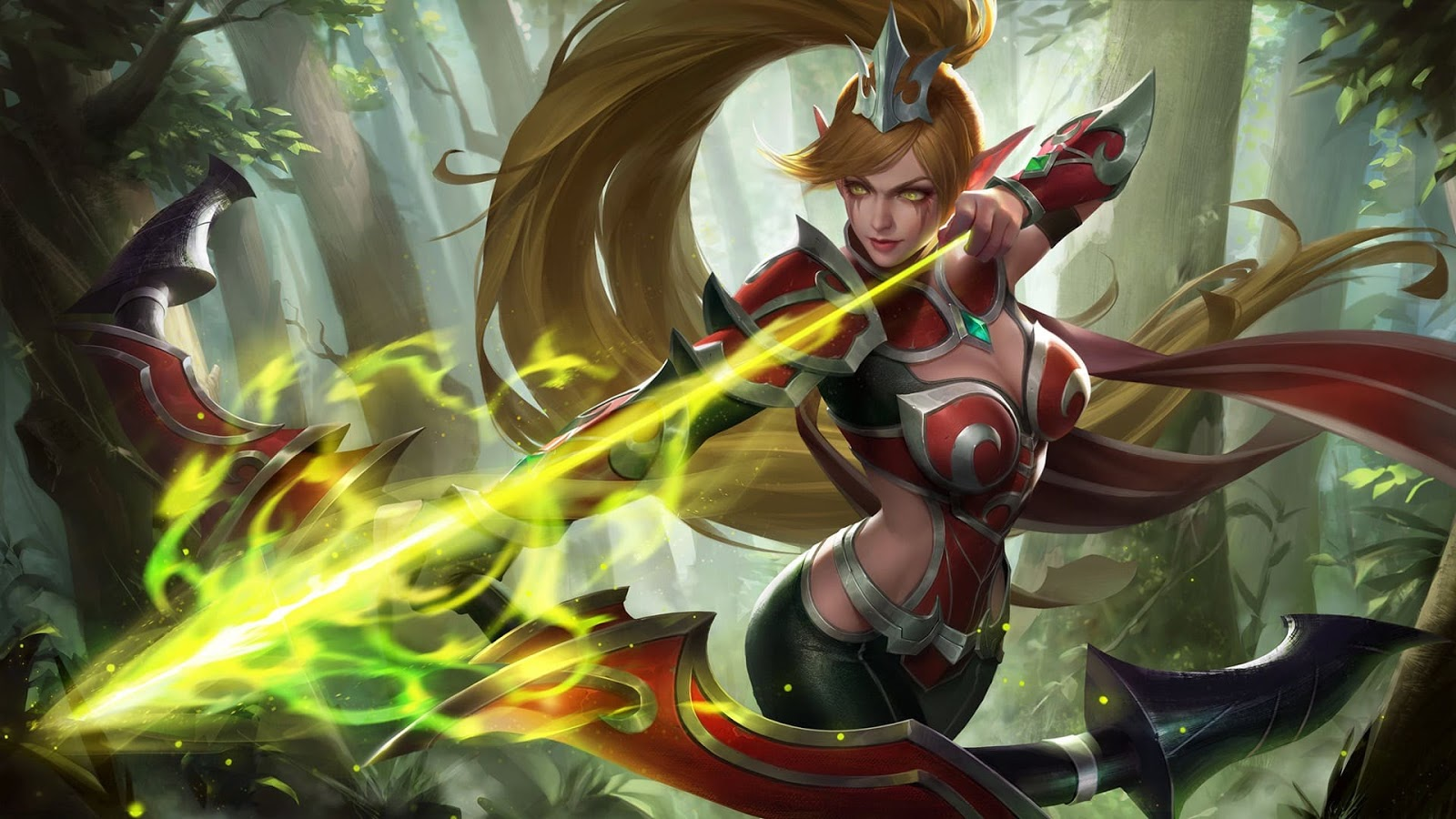 Wallpaper Miya Burning Bow Skin Mobile Legends HD for PC