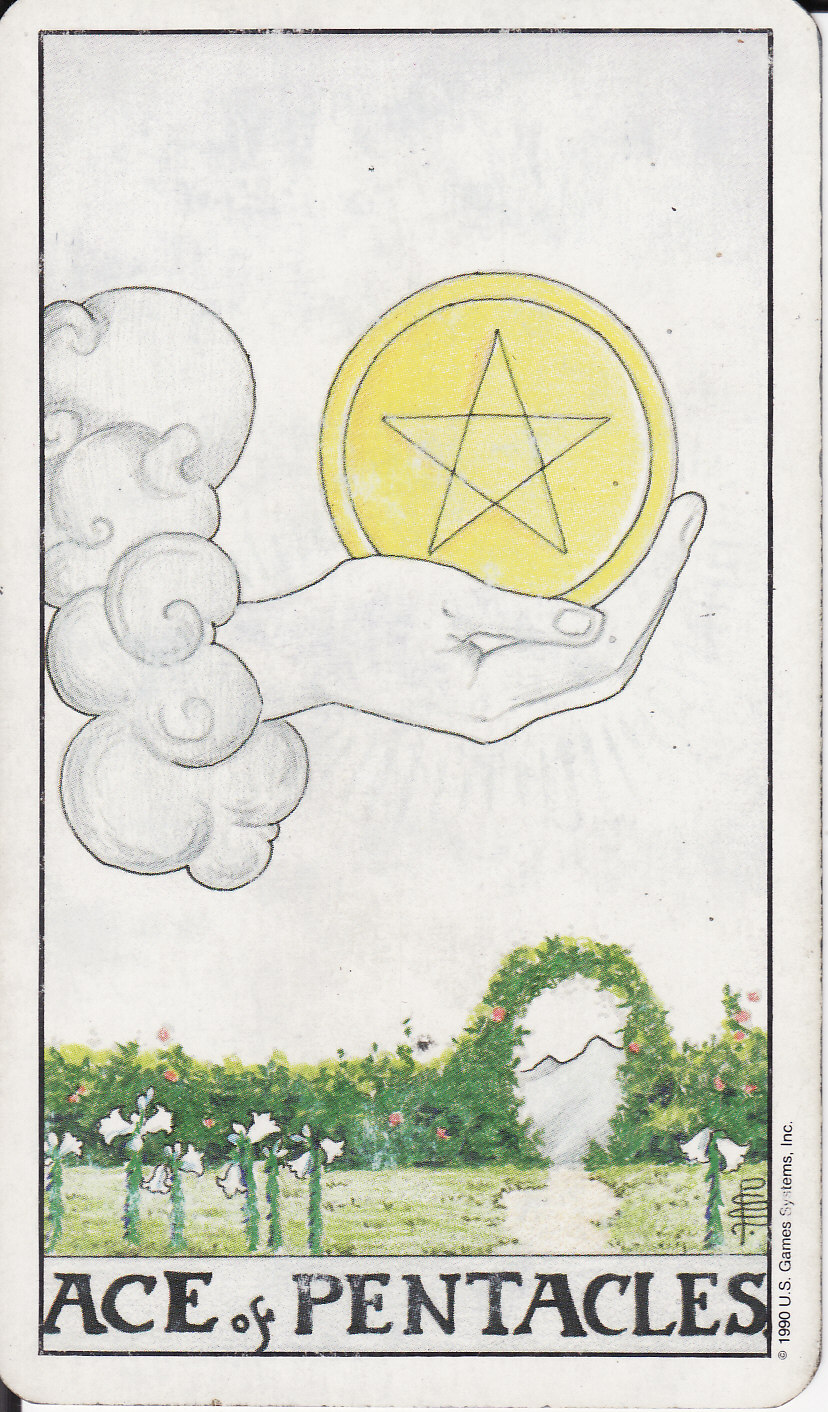 TAROT - The Royal Road: 1 ACE OF PENTACLES I