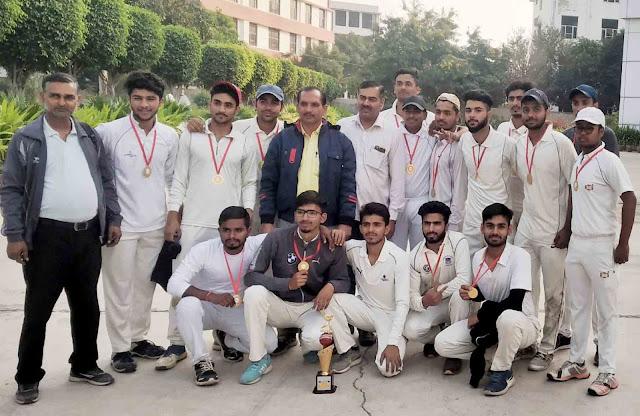 J.c. Bose University YMCA Faridabad defeated Inter-College Cricket Tournament, Ashlon College