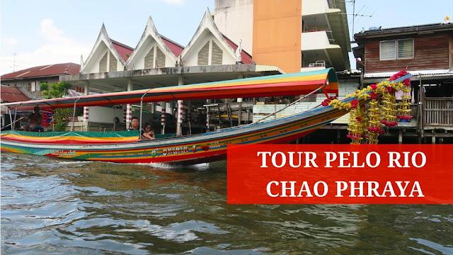 Rio Chao Phraya, em Bangkok