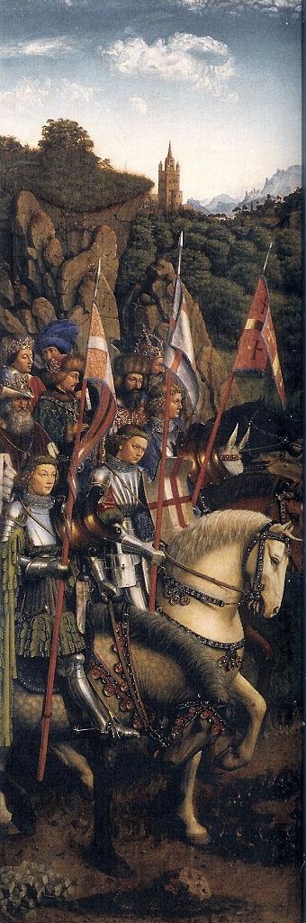Altar em Gante, cavaleiros de Cristo, Jan van Eyck.