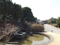 Statues in fountain - Kyoto Botanical Gardens, Japan