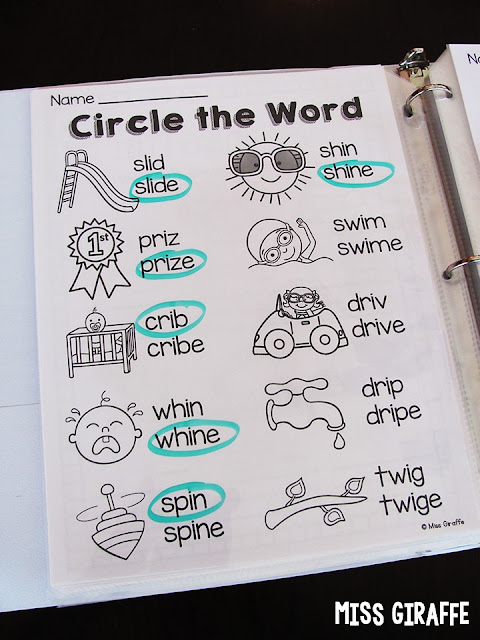 Short and long i worksheets where students look at the fun picture then circle the correct spelling of the word for simple and easy practice!