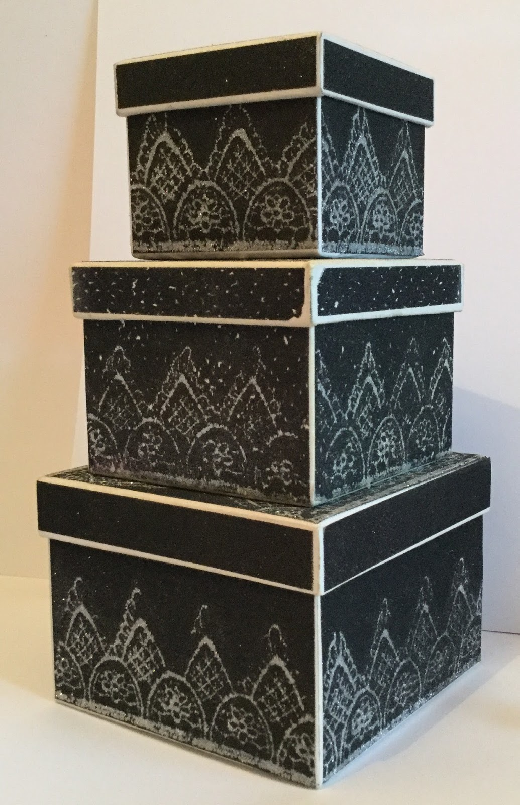 Dandie crafts black lace boxes with tonic studios nuvo for Black box container studios