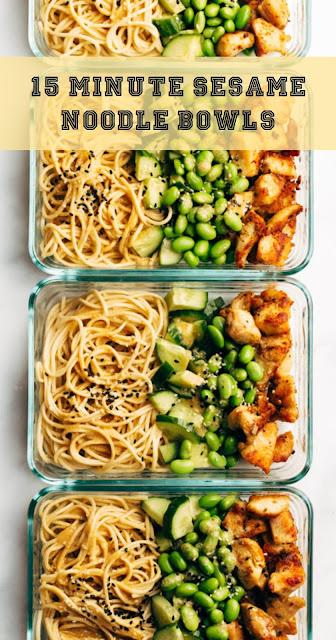 15 Minute Sesame Noodle Bowls