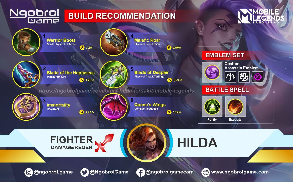Build Hilda Savage Mobile Legends