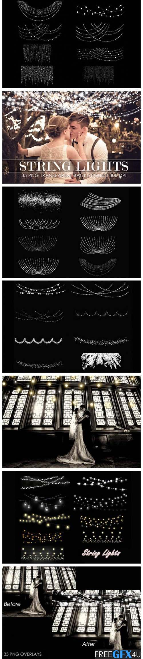 35 String Lights Overlay Pack