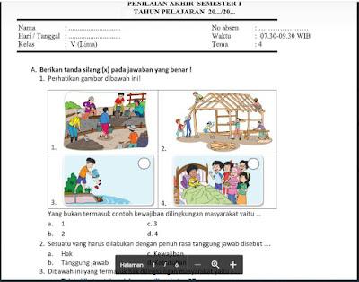 Soal PAS Tema 4 Kelas 5 Semester 1