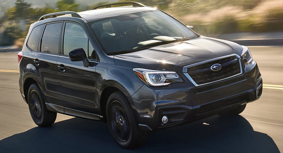 2018 subaru forester gets minor price hike and new black edition. Black Bedroom Furniture Sets. Home Design Ideas